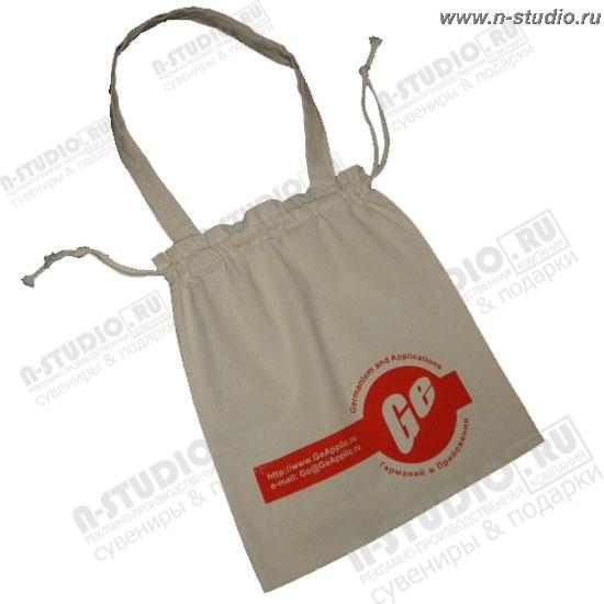 Нанесение логотипа на сумки из хлопка.