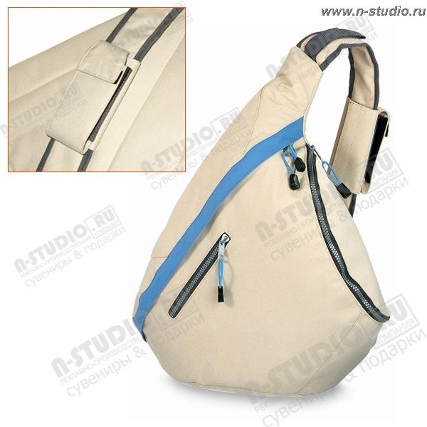 Рюкзак бежевый с одной лямкой корпоративный promo.