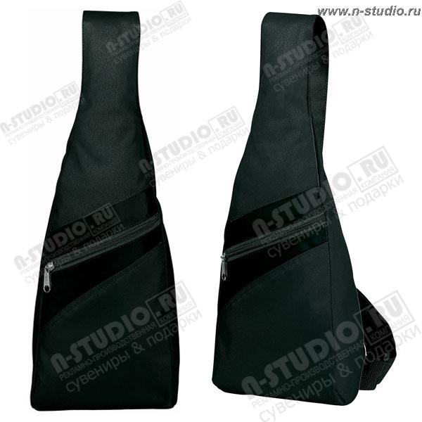 Рюкзак рекламный с одной лямкой с фирменной символикой подарочный.