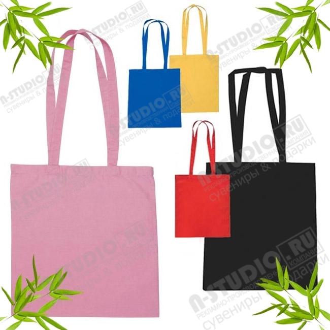 Рекламные сумки хлопок, цветные сумки авоськи с логотипом.