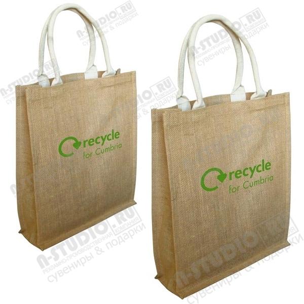 Подарочные сумки из джутовой ткани под нанесение логотипа.