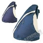 Рюкзак промо синий с одной лямкой с логотипом.