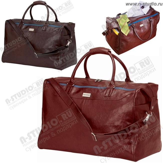6f38f95aedac Кожаные дорожные сумки рекламные с логотипом оптом сумка кожаная под ...