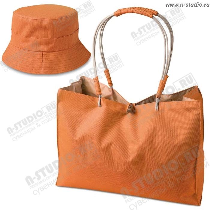bd6568198fd5 Сумка пляжная панама оранжевый :Пляжные сумки под нанесение логотипа ...