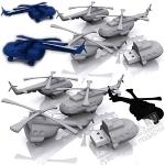Флешки «Вертолет» с логотипом pvc usb флэш карты авиационные