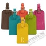 Кожаные багажные бирки с нанесением логотипа бирка для багажа