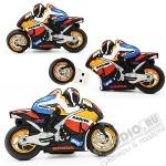 Флешки «Мотоцикл HONDA спорт» с логотипом оптом мото usb флэш карты