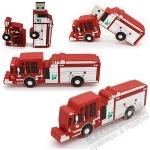 Флешка «Пожарная машина» под нанесение логотипа оптом авто usb флэш накопители