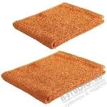 Полотенце махровое 100x50см, 420гр, оранжевое